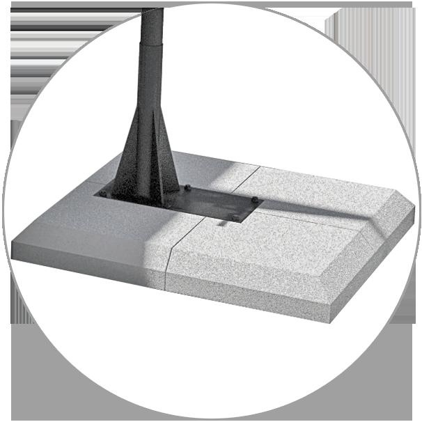Segmental concrete base