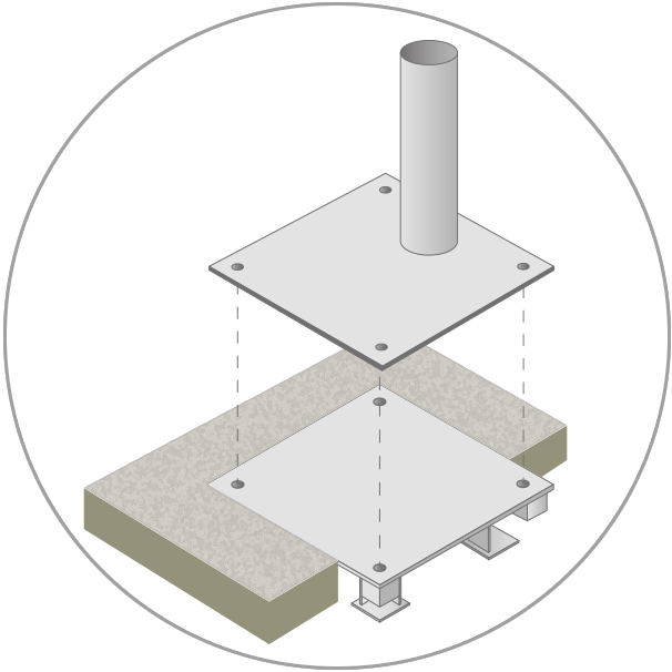 Mounting plate ground anchor