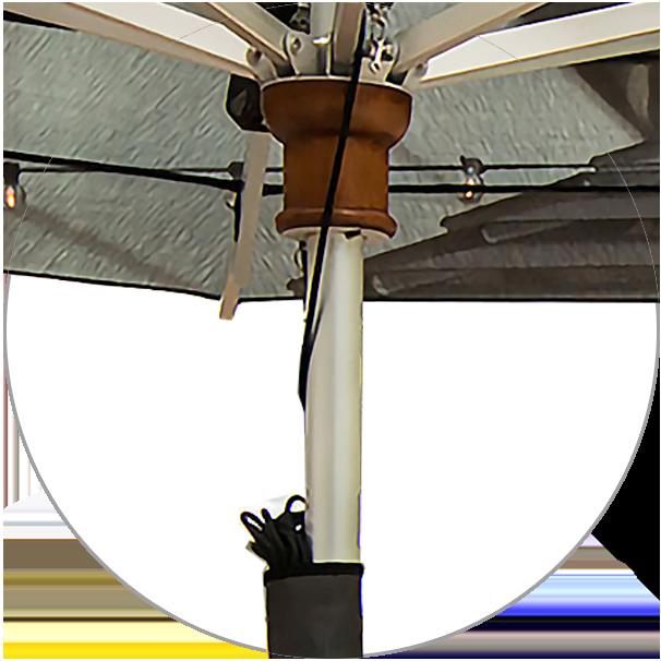 Anodized aluminium pole Ø 50 mm